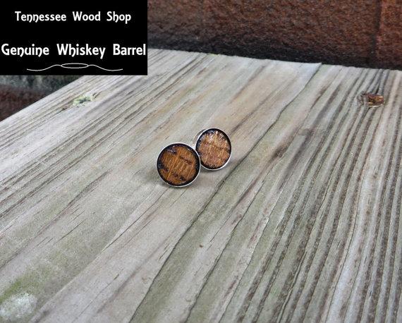 Bourbon Barrel Earrings // Etsy