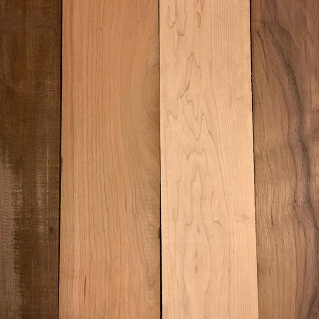 Walnut, cherry and Maple...things are about to get crazy.