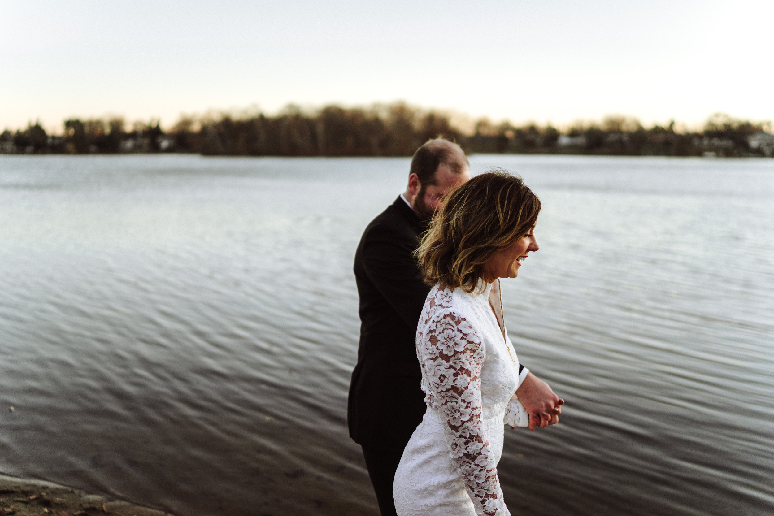 minnesota lake wedding