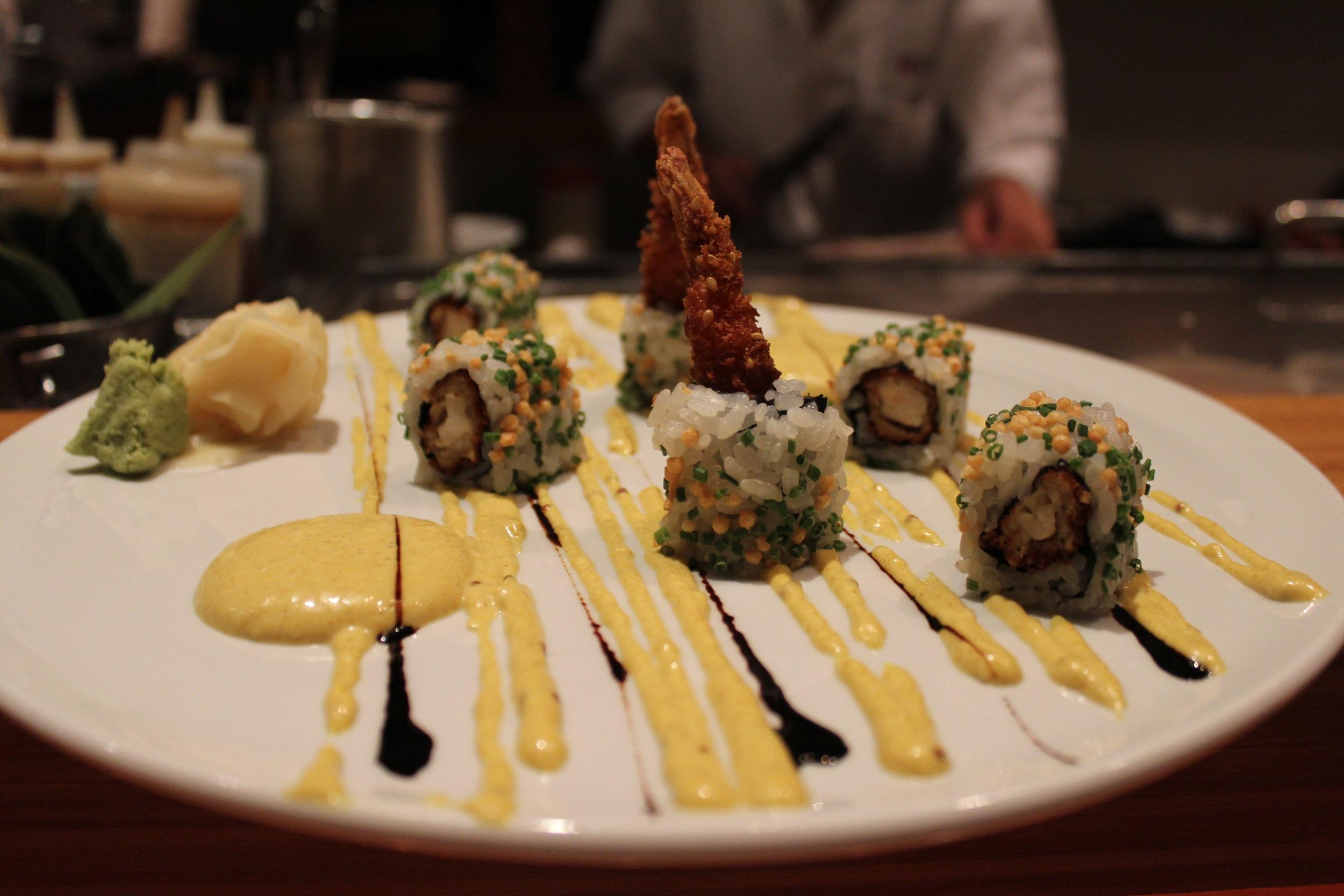 Sesame Crusted Shrimp Roll at BONDST