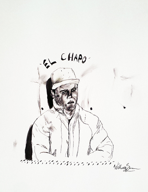 A quick El Chapo sketch. As I was quite inspired by him while writing this.