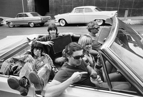Gram Parsons, Keith Richards, Anita Pallenberg, Phil Kaufman.
