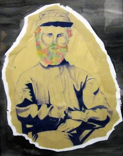 Serious Beard, Ballpoint Pen and Marker on Bristol Board, 11 x 14 inch