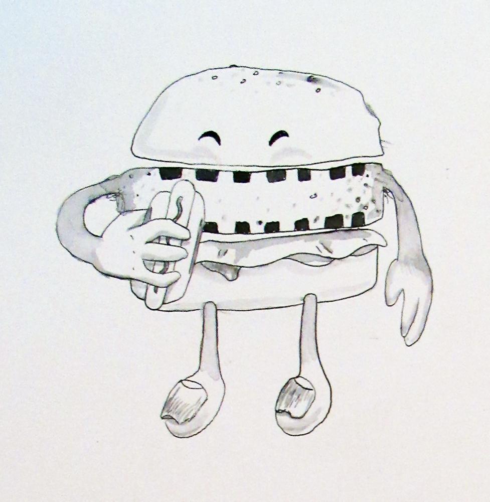 14 - Hamburger eats Hotdog