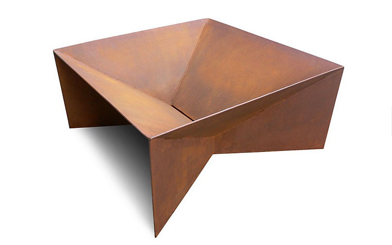 design within reach plodes geometric fire pit