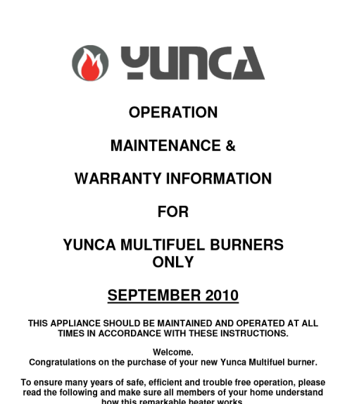 Click on the image above to download and view the maintenance and warranty information
