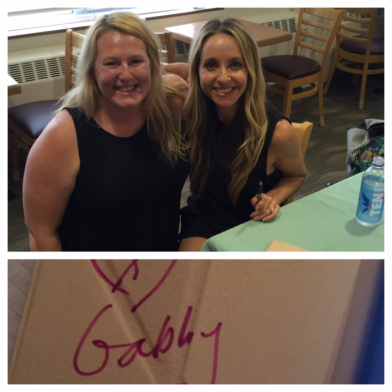 Me & Gabby Bernstein! She signed my Kindle and I was officially a #SpiritJunkie!