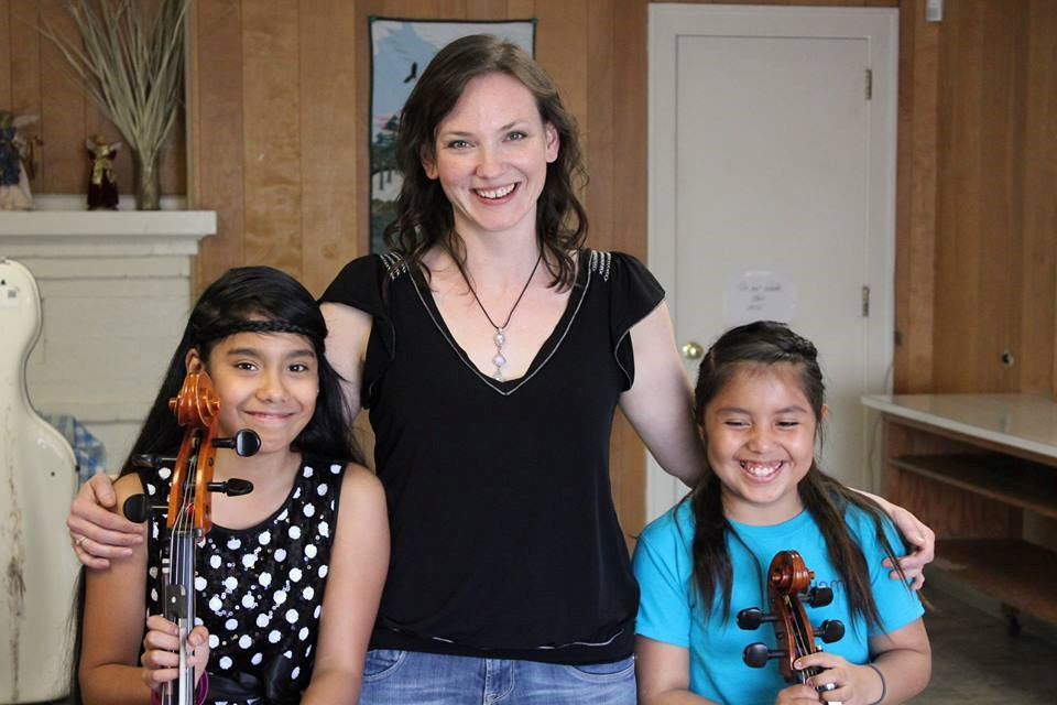 Two elated cellists after their first solo recital:     Daniela, left, Heidi, right.                           When was the last time you got to see smiles like these?