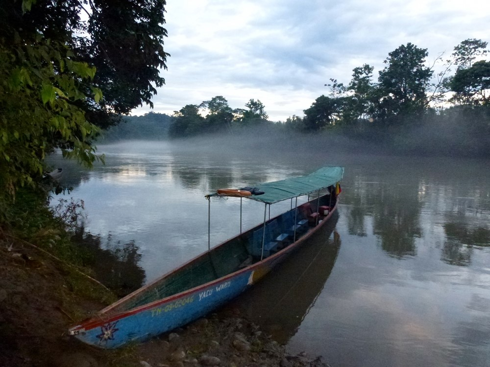 Jungle transportation/simple life. Photo credit: selvaviva.ec