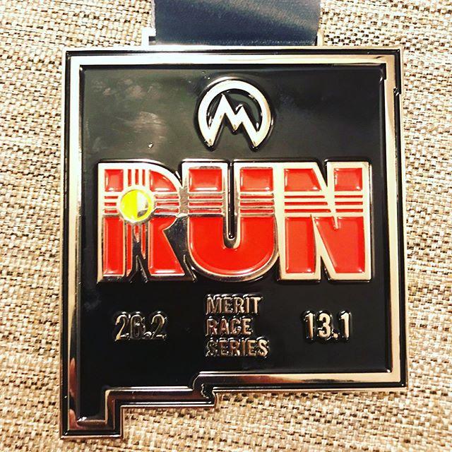Sandia Half Marathon medal