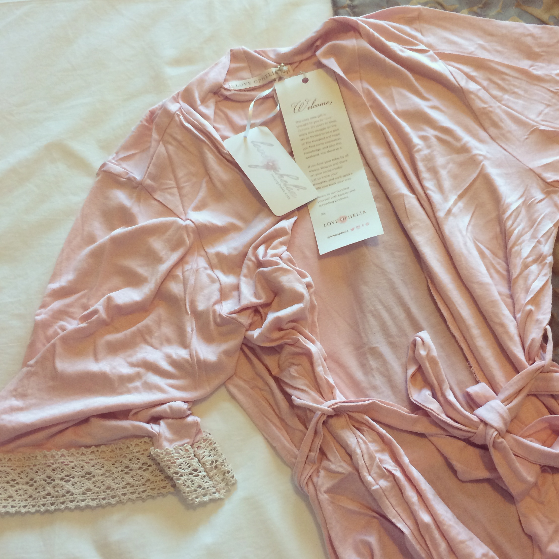 The most softest and pretty robe by  Love Ophelia  I ever did see was waiting for me in my room upon my arrival. Love!!