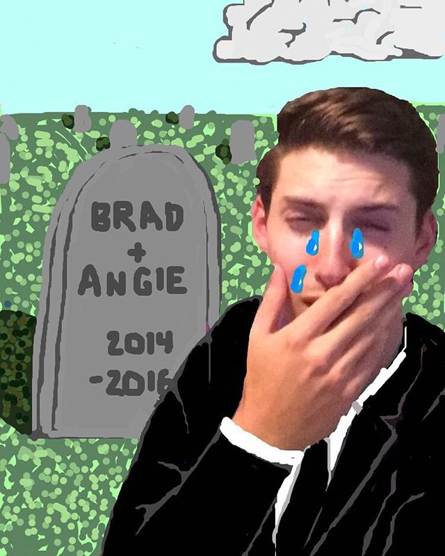 First the Apple headphone jack, now #BRANGELINA?!?! Please give me some space, it's been a rough few weeks for me emotionally. • Snapchat:wittguy