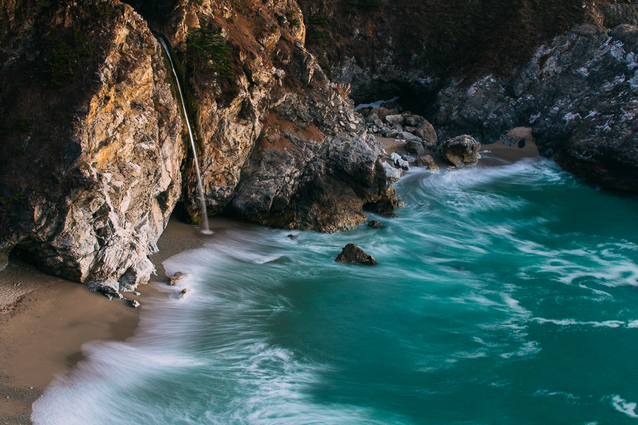 McWay Falls is ~80'.