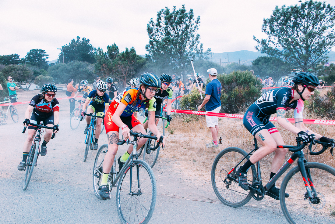 Checked out some bike babes ripping a cyclocross race.