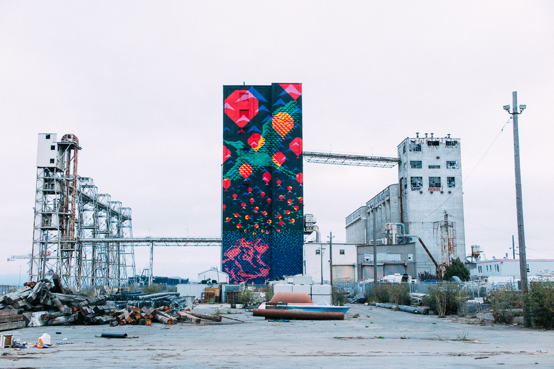 An old factory turned into a canvas. There is some super cool street art here.