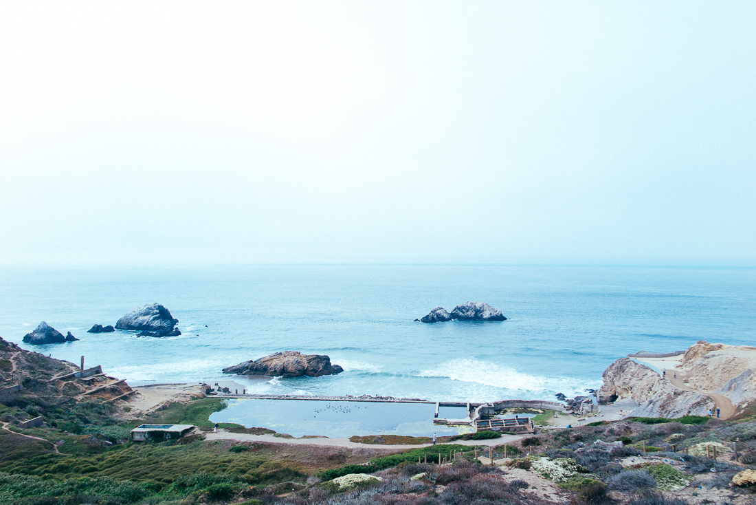 The foundation of Sutro Baths. This spot was  The Place To Be  in the early 1900's.