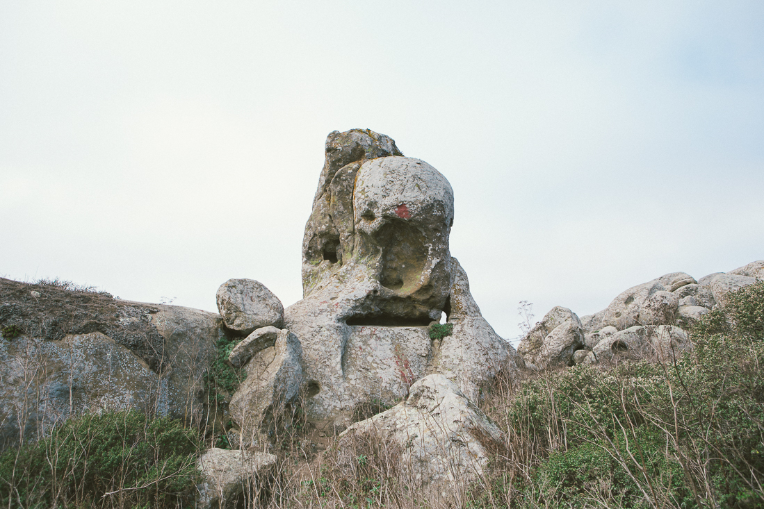 She took me to Dillon's Beach, where these crazy rocks formations are. Doesn't this one looks like the Elephant Man a little?