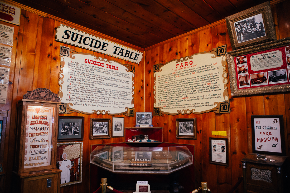 I stopped at the Delta Saloon to check out the famous suicide table...