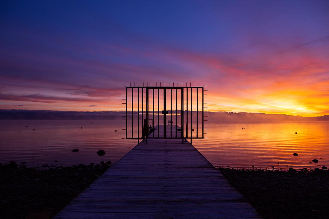 Do not trespass and enjoy the sunrise.