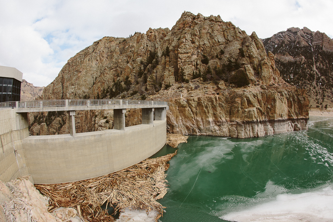 I jumped a fence and took a hike to the Buffalo Bill Dam and made this picture for you.