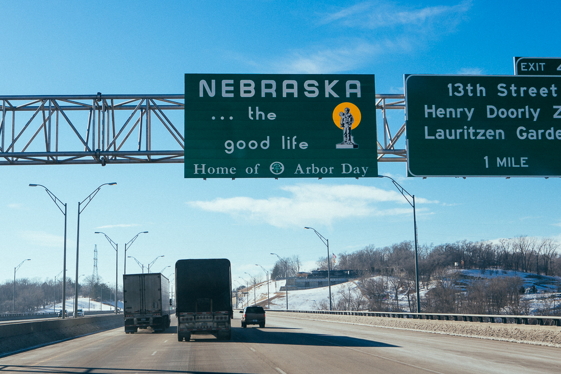 There wasn't really anything in Nebraska that I was all that exciting to photograph, but in the end of this tour I want to say I went to each of the contiguous states.  So here it is.