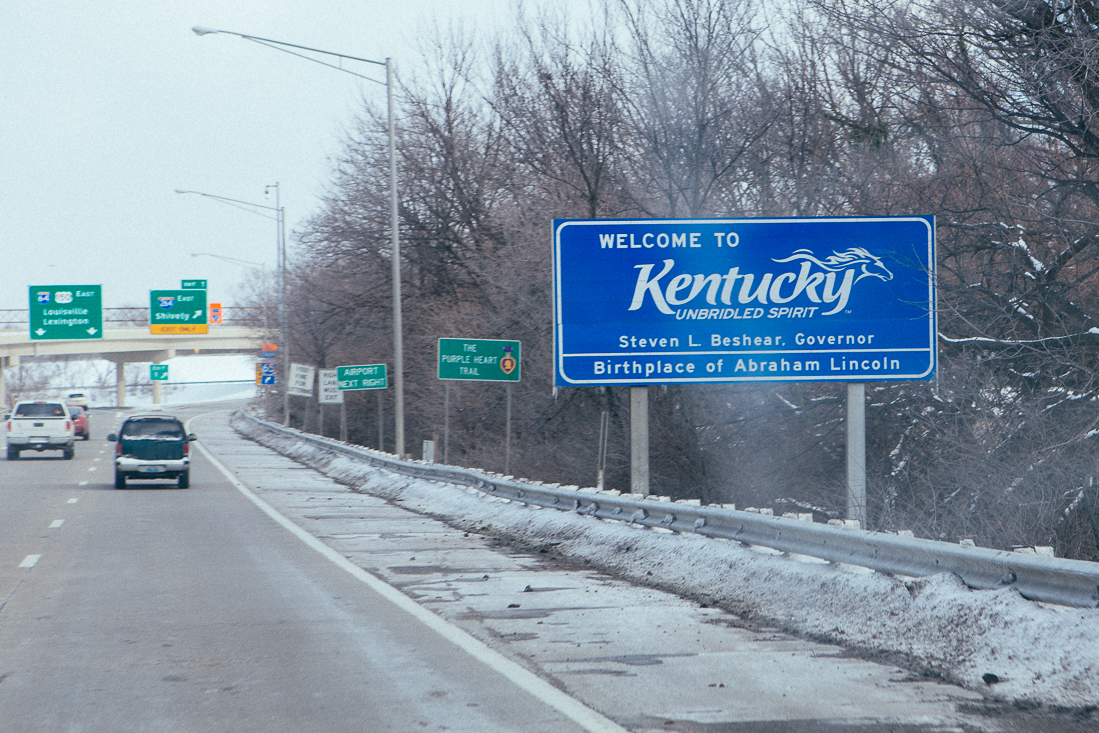There we go Kentucky, a little creativity in a state sign!
