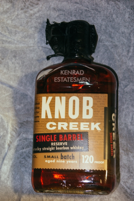 """Back in California are a few gentlemen known as the Kenrad Estatesmen, who periodically host a""""whiskey social"""". I spent a week's worth of grocery budget on this special gift, which I'm excited to share when I finish this cross-country tour!"""