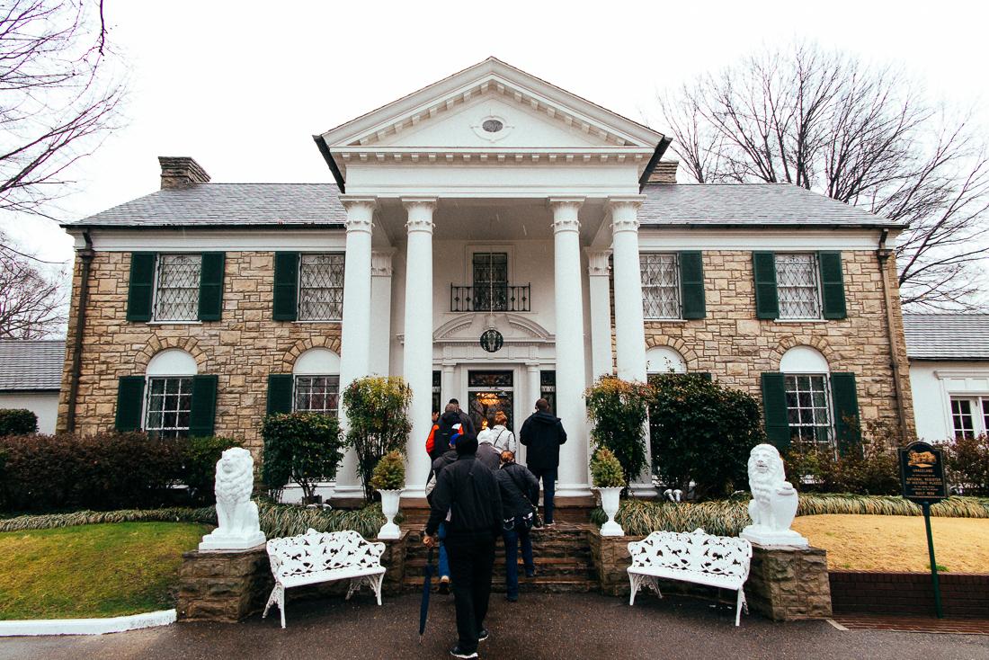 Over in Memphis is Elvis Presley's old mansion, Graceland.