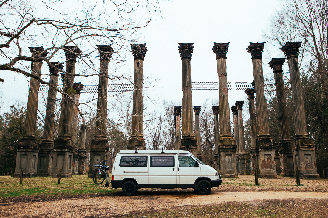I drove out onsome serious hillbilly backroads to visit the ruins of the Windsor mansion. I played The Deliverance moviesong while I was there, it seemedappropriate.