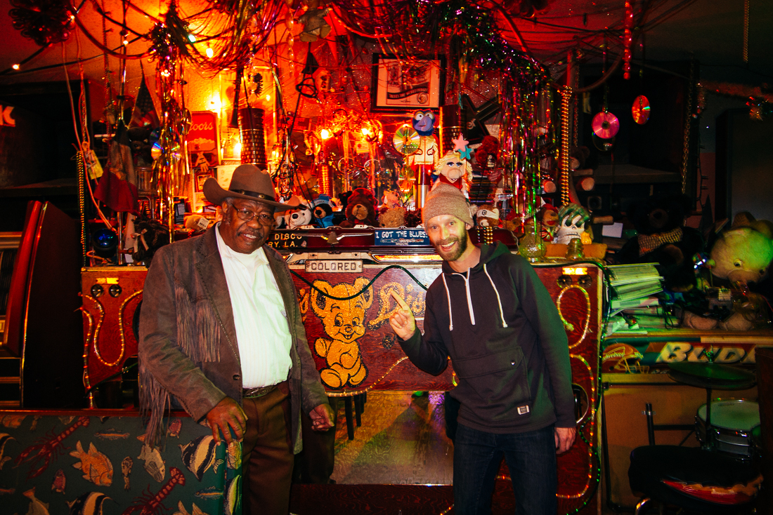 The only person there was the legend himself, TEDDY!  He told me insanely detailed stories behind every single photo and flyer hung on the walls, which basically was an hour long history lesson in The Delta Blues.
