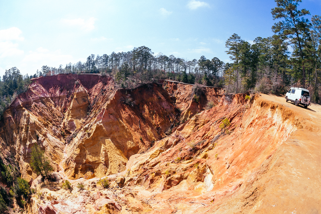 "Out in the middle of nowhere is an eroded hillside known as ""The Grand Canyon of Mississippi"".  The colors are beautiful."