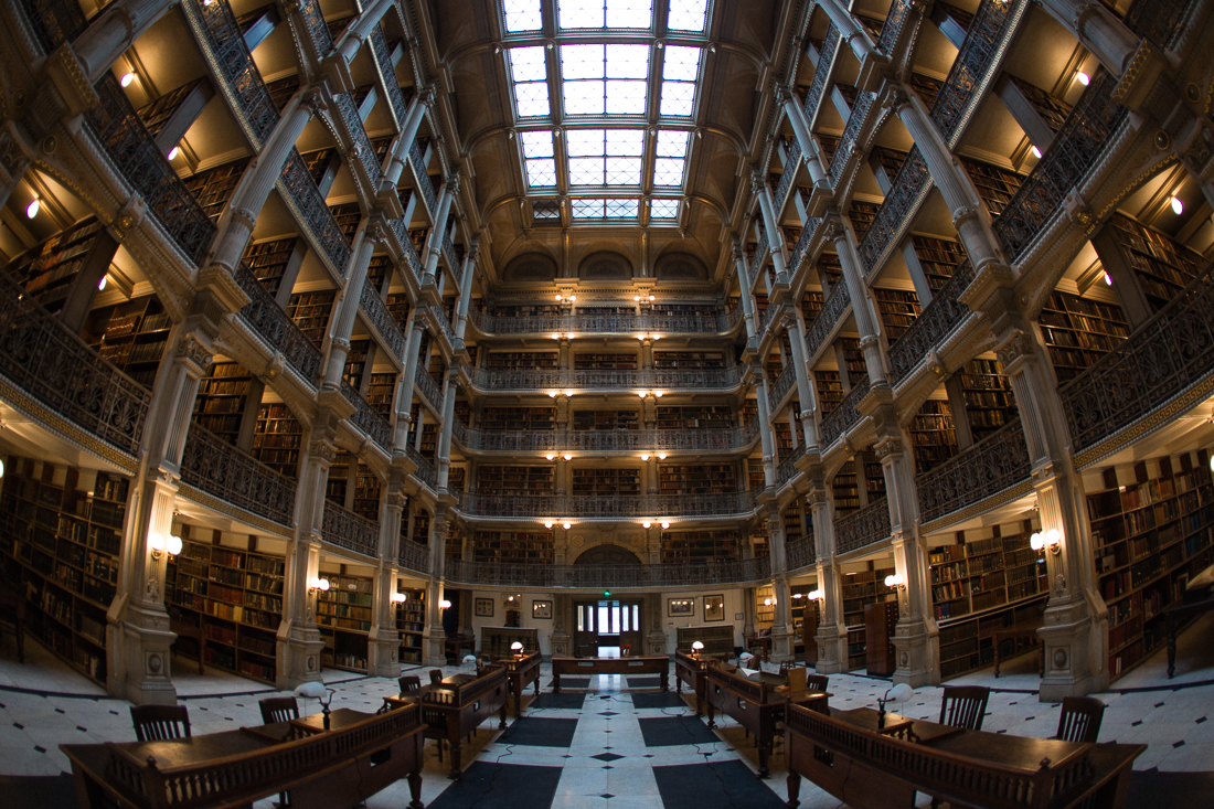 The Peabody Library is insane. The interior is off limits to photography, for no reason that I could justify abiding to.