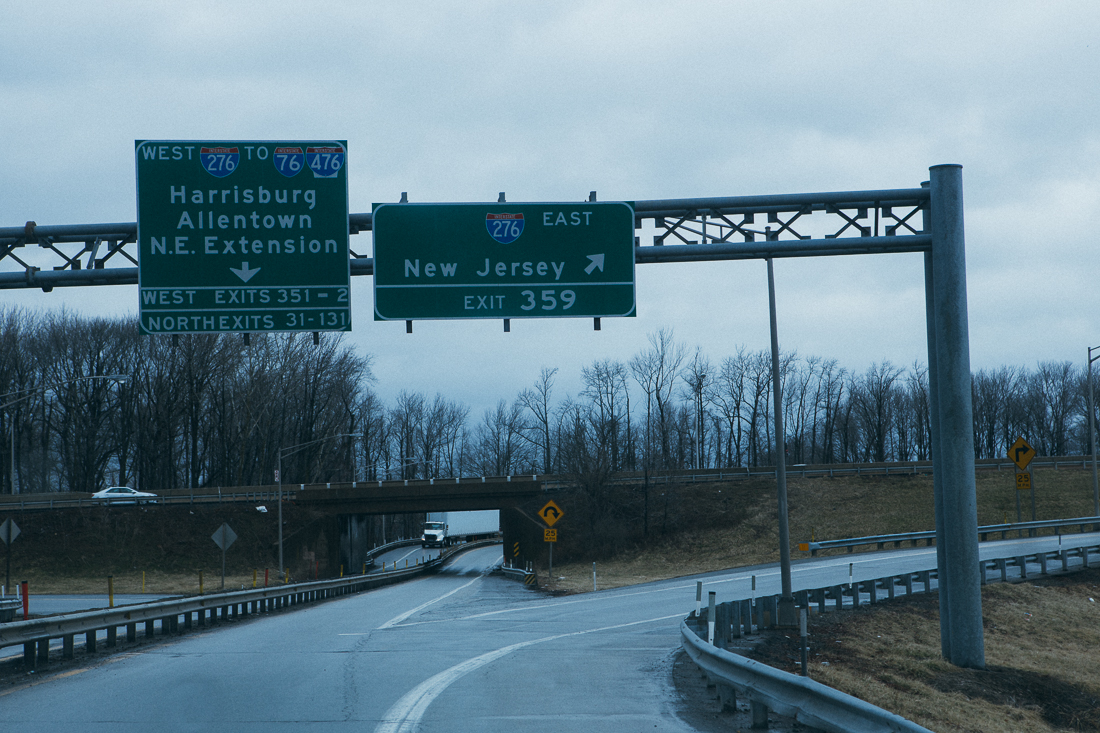The route I took didn't even have a proper welcome sign to New Jersey.