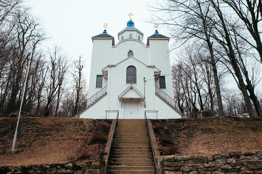 The movie Silent Hill was filmed here. This church is one of the couple buildings that remain.