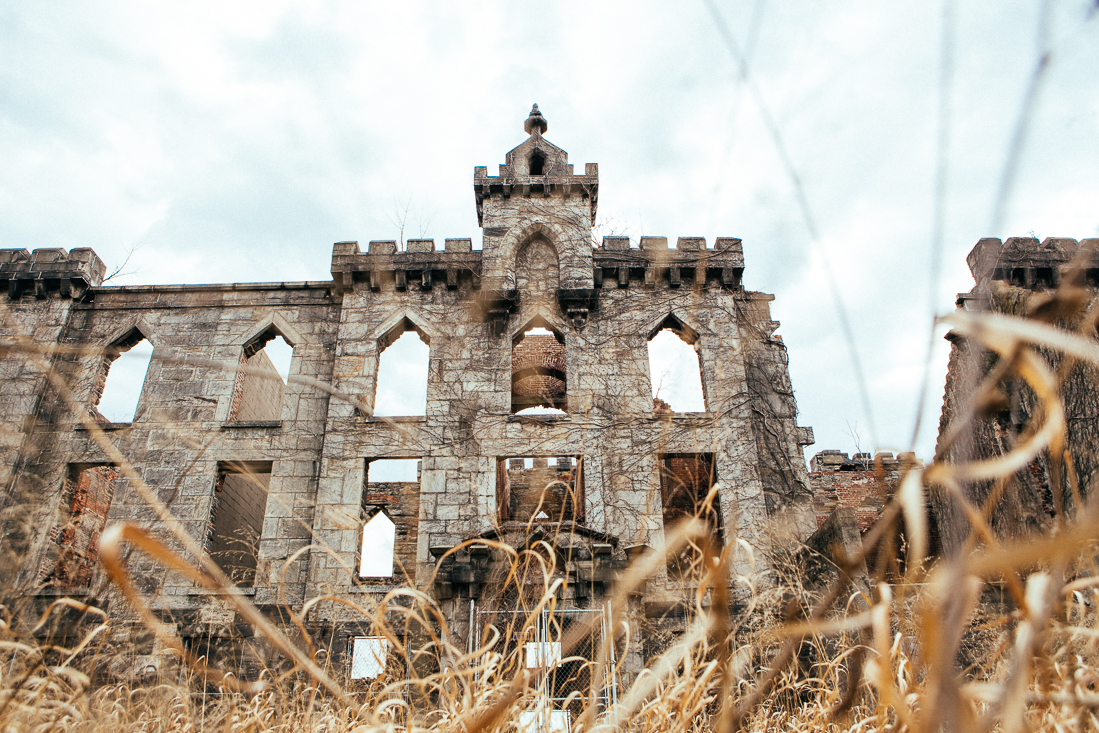 The abandoned Small Pox Hospital.
