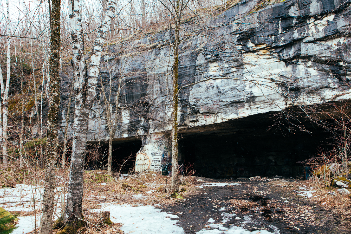 The Freedlyville Quarry was Vermont's 1st marble quarry, now just a hole in the mountain. Walking up to it was real spooky, being it tunneled back a couple hundred feet and was pitch black.