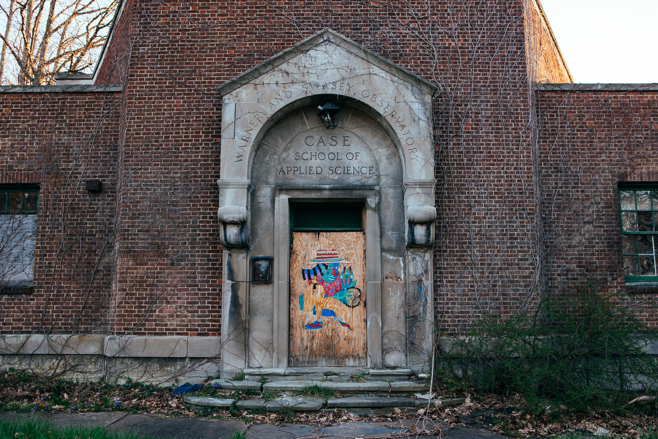 My 1st location was an abandoned building   in a sketchy neighborhood of   Cleveland, the Warner and Swasey Observatory.