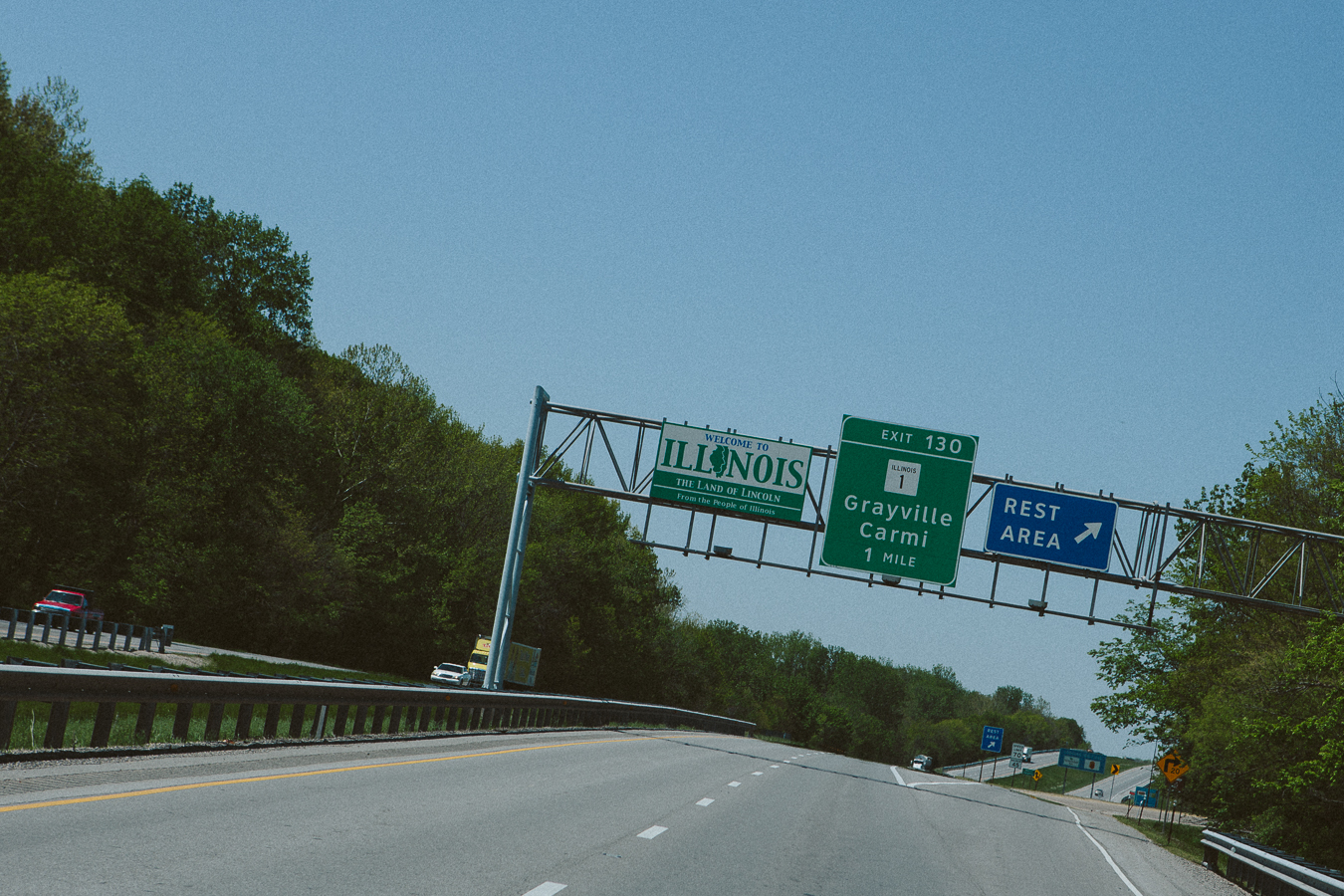 I passed through  Illinois again , but since Ialready visited the state I kept on truckin'.