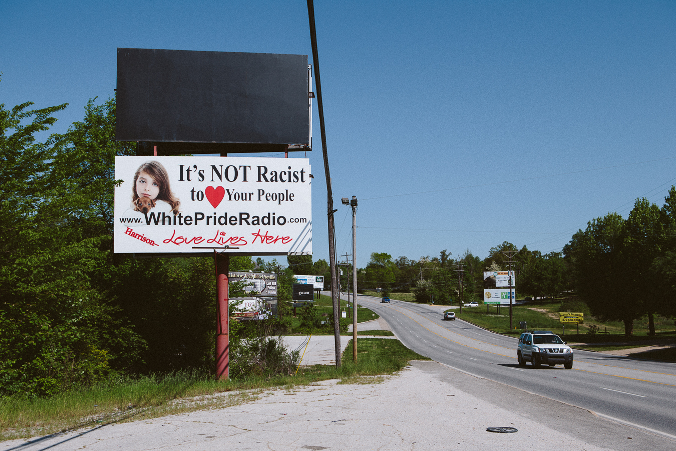 """My jaw dropped when I saw this. I'm considering placingan ad on the billboard above, stating- """"It's okto love your people, just love outside your immediate family. www.StopIncest.com"""""""