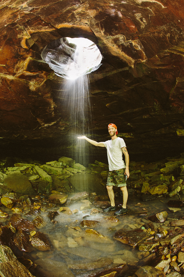 """They call this place""""Glory Hole Falls""""."""