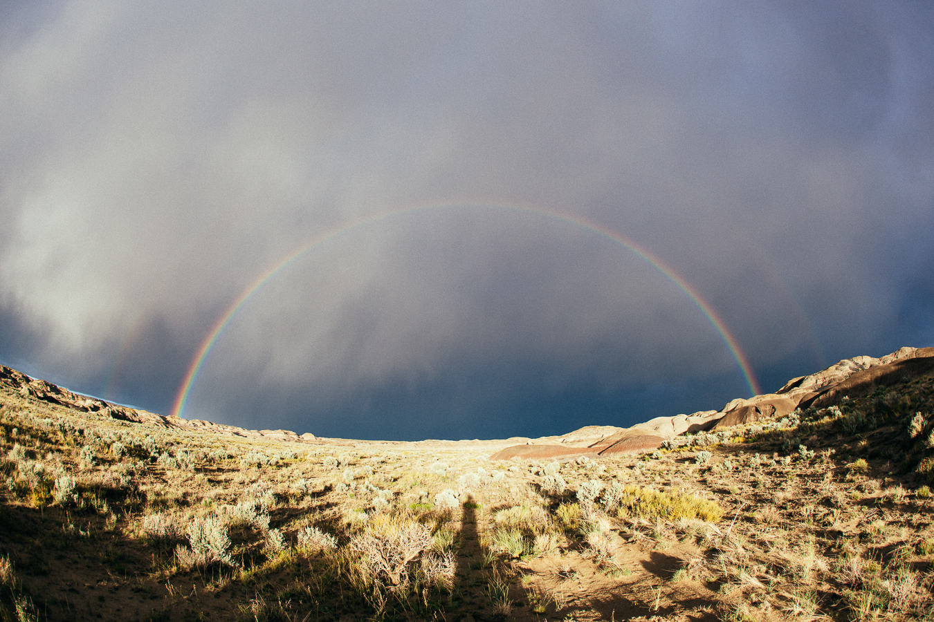 At least I got this full rainbow photo, kind double-rainbow actually!