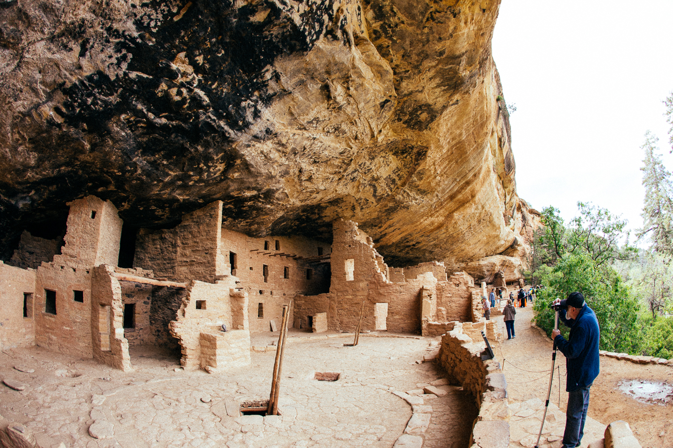 The Cliff Dwellings are a genius design. ...except for if there was an earthquake!