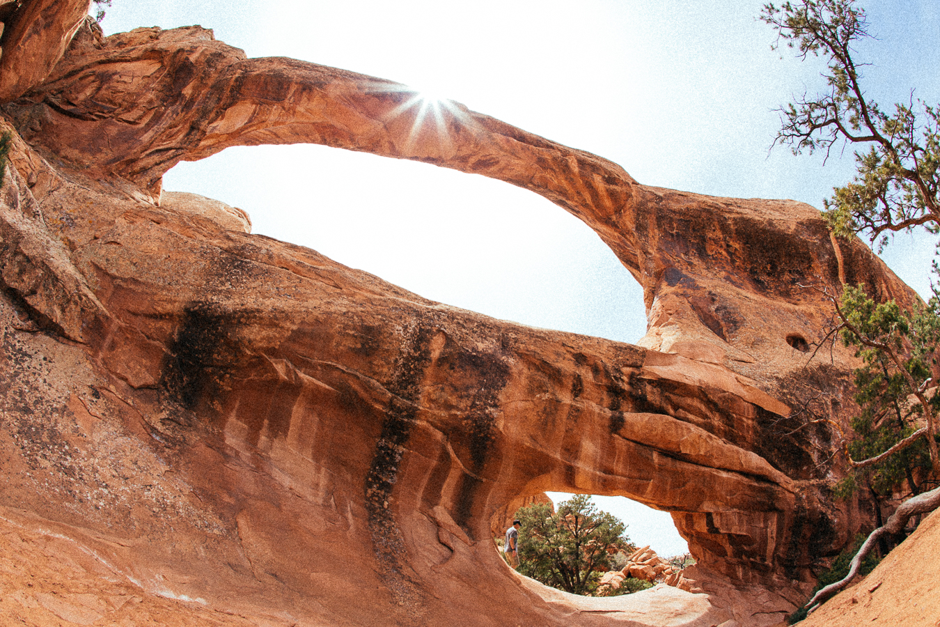 A few miles in on this hot hot day I finally found the Double Arch. I enjoyeddouble theshade.