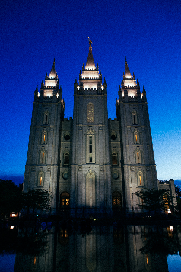 I've seen many LDS temples and am always fascinated with their striking architecture.