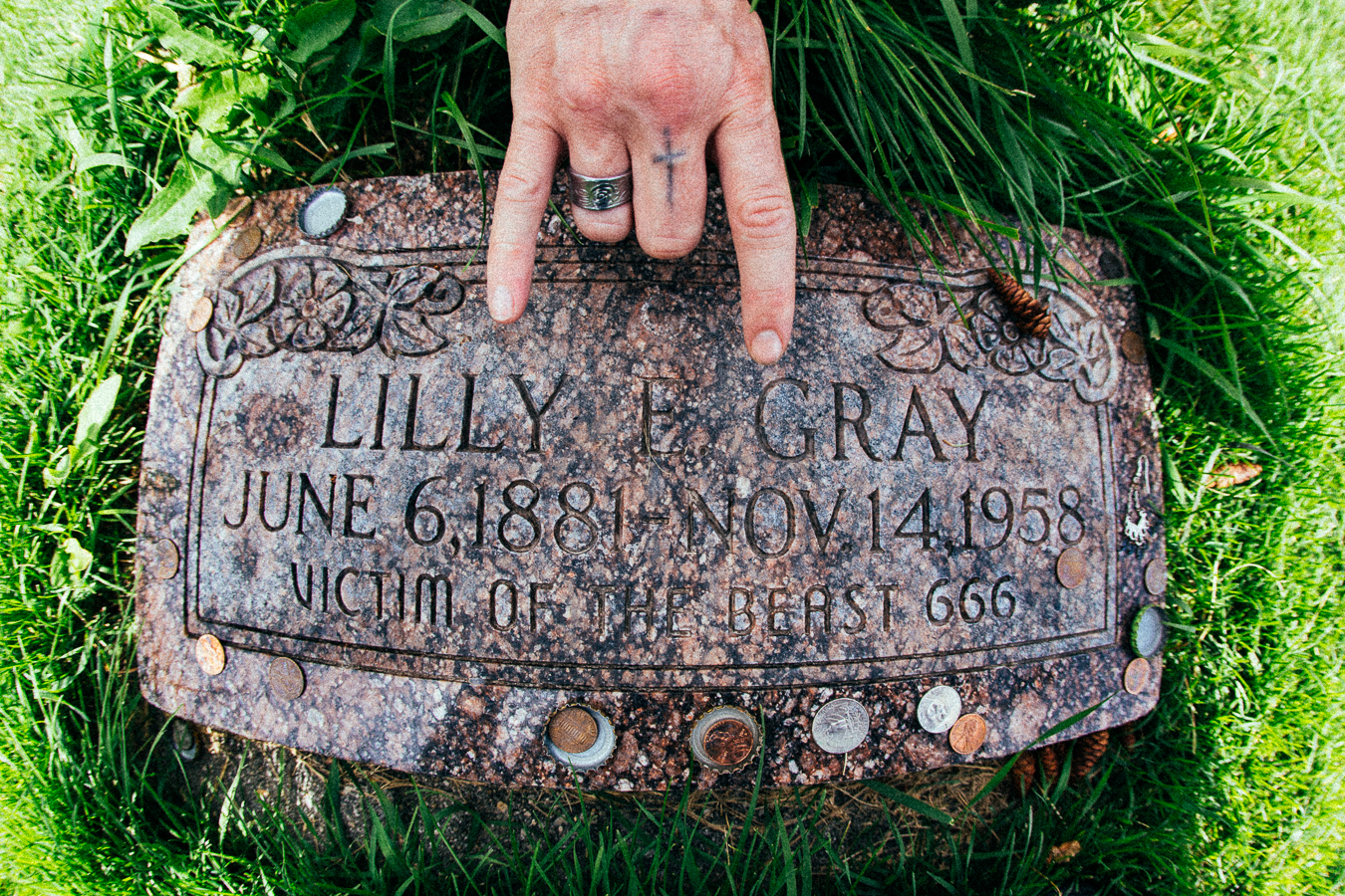 This one is bizarre, especially because this is prior to any metal rock genre was invented. Nobody knows exactly how she died, records just say she passed away from 'natural causes'. Even more weird, her husband who died years later is buried on the opposite side of the graveyard!