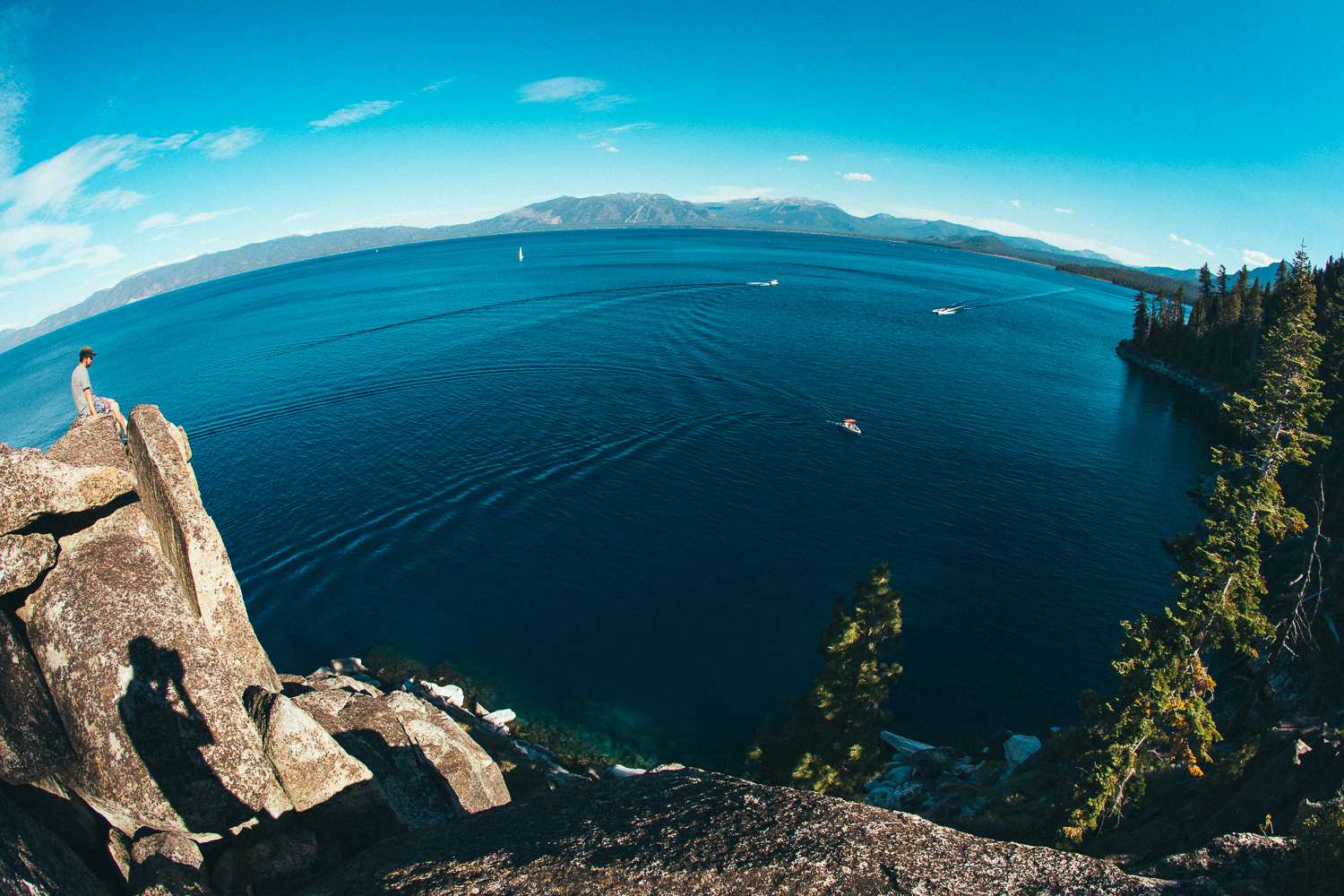 Even though I lived all over Tahoe from 1991-2006, I had never been down to the shore of DL Bliss state park. Maybe since I'm getting more comfortable with heights it makes sense now.