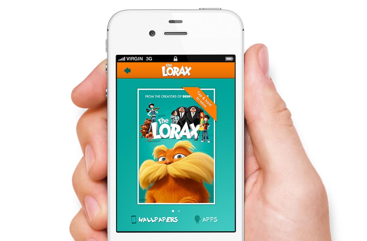 The Lorax downloads iPhone screen.