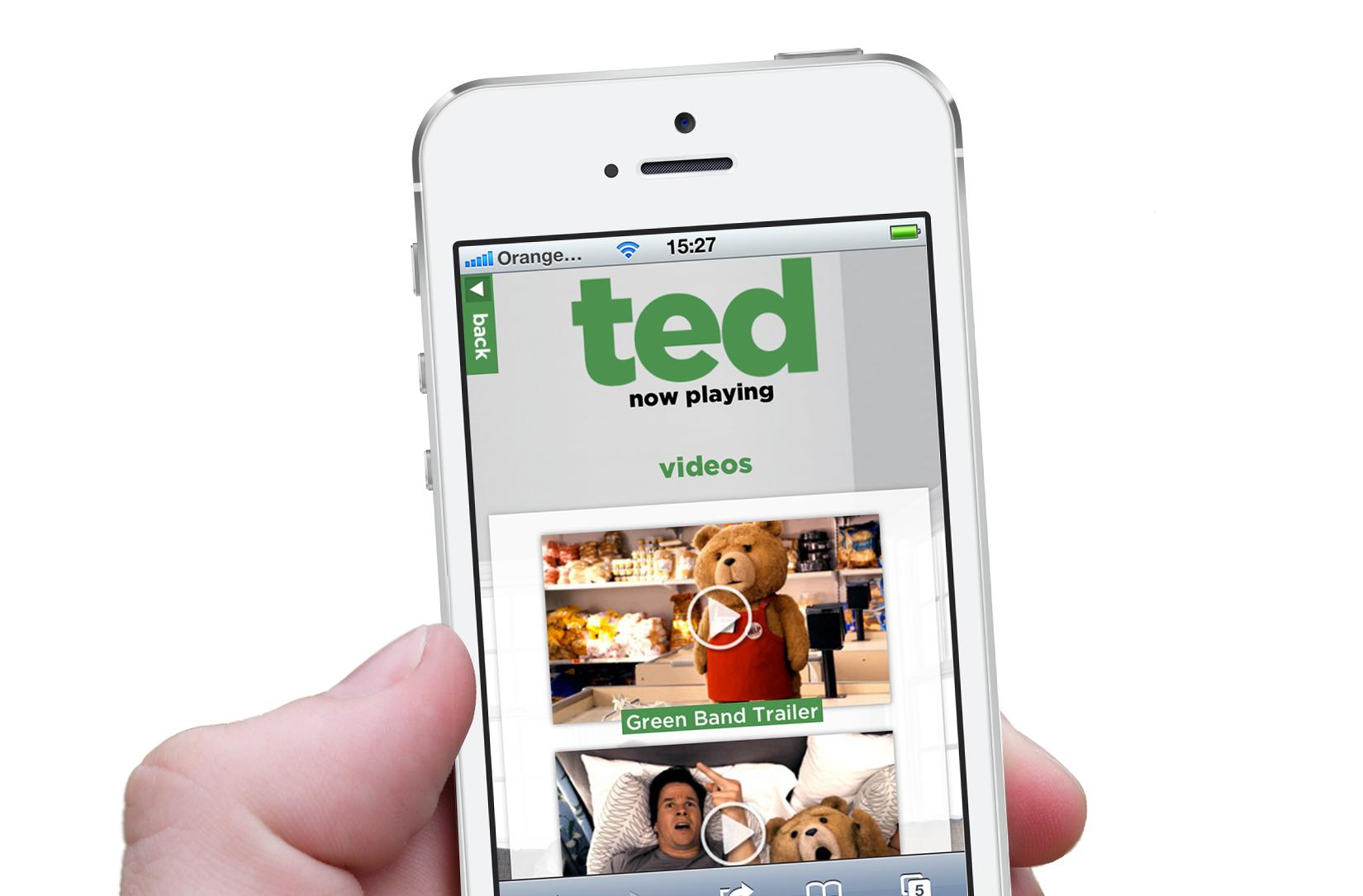Smartphone: movie trailers.
