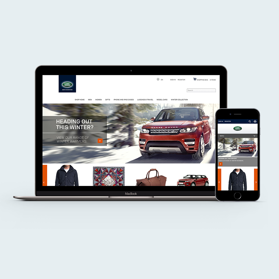 - Land Rover online store