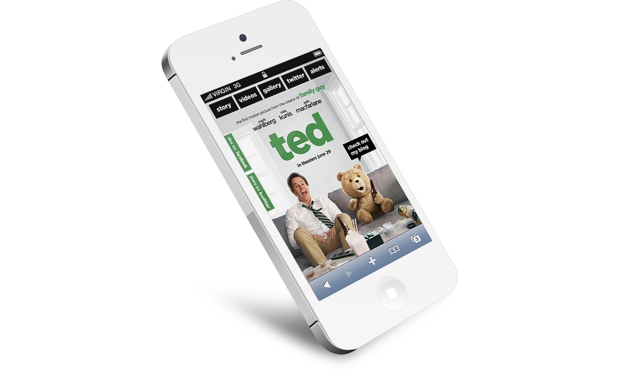 Smartphone:  home screen.